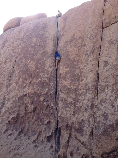 Joshua Tree National Park, Jumbo Rock Area, Conan's Corridor, Gem 5.8