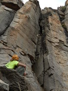 Rock Climbing Photo: Zac ooguling over his new line