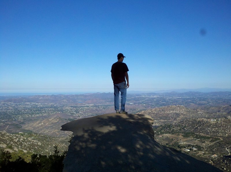 Me, admiring the view from potato chip rock.