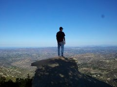 Rock Climbing Photo: Me, admiring the view from potato chip rock.