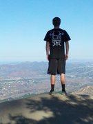 Rock Climbing Photo: Jeff, admiring the view from Potato Chip Rock.