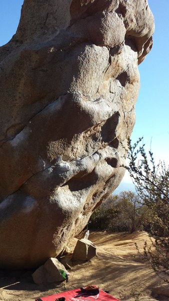Pick your poison. Big Horn is one of my favorites. High ball or TR this boulder is good fun!