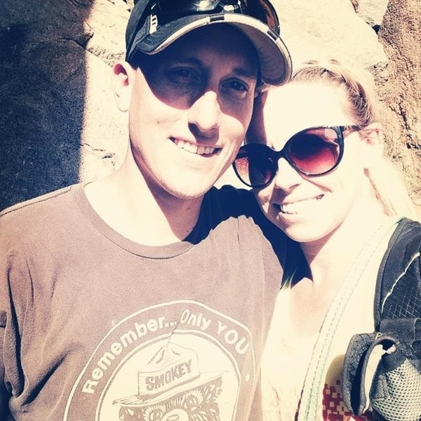 Holly and I at The Gorge. Love this place. Fun Climbing with easy access.