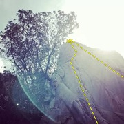 Rock Climbing Photo: Easy Rider(5-7) on the left and Black Rider(5-11c)...