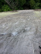 Rock Climbing Photo: The upper crimpy patina-edge face.