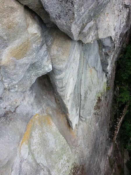 "Rock Climbing Photo: The awkwardly fun corner section of  ""Chiefta..."