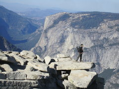 Rock Climbing Photo: The Diving Board of Half Dome