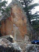 The Orange Ripple Boulder