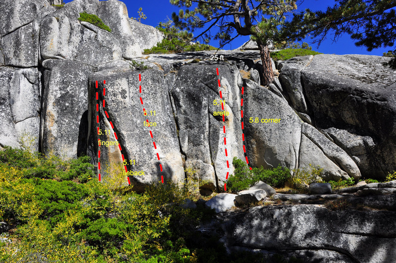 Rock Climbing Photo: Down and right (south) from the Olmsted Crack pinn...