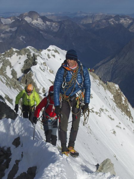 west  ridge of BARRE DES ECRINS 4102m south alp France
