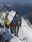 Rock Climbing Photo: west  ridge of BARRE DES ECRINS 4102m south alp Fr...