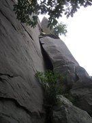 Rock Climbing Photo: photo of the leaning pillar right of the other rou...