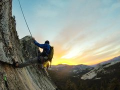 Rock Climbing Photo: Great views of Fairview rapping off a successful c...