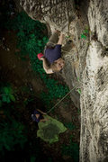 Rock Climbing Photo: Eric Elofson on some climb on Fumakilla Wall, phot...