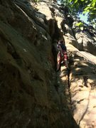 Rock Climbing Photo: Dave Hug on Easy Crack