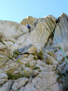 Rock Climbing Photo: Ken at the awesome throw-your-leg-over-the-flake f...