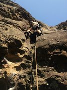 Rock Climbing Photo: Heady Spuds on his first ascent of Tempura Tour pi...