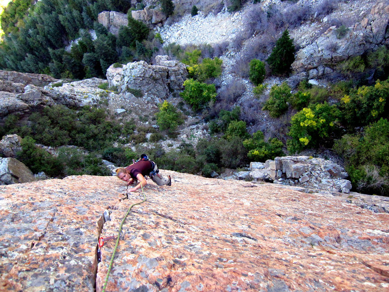 Lindsey on the last section of High Dive.