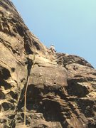 Rock Climbing Photo: Heady Spuds sending