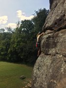 Rock Climbing Photo: Heady Spuds continuing around the arete