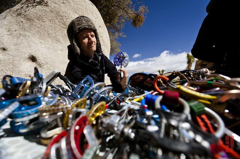 Rock Climbing Photo: lots of gear
