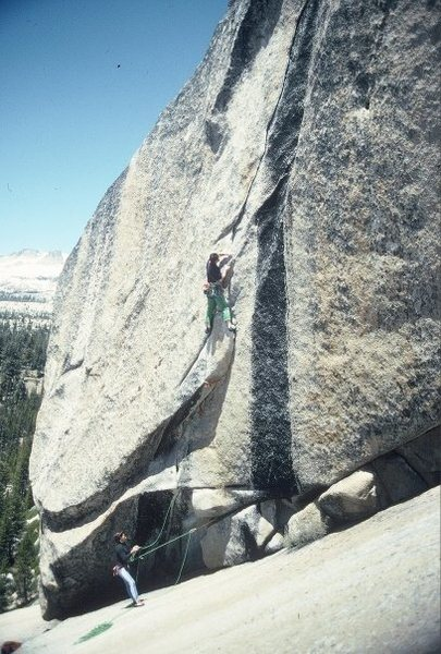Rock Climbing Photo: Mike Hernandez (belayed by Marc Hill) leading &quo...