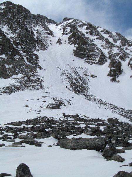 Rock Climbing Photo: Quandary Couloir.