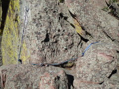 Rock Climbing Photo: New/Old anchors on Main Mickey Mouse Rap Route