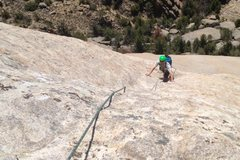 Rock Climbing Photo: looking down P3 of Sky Route, Lankin Dome-