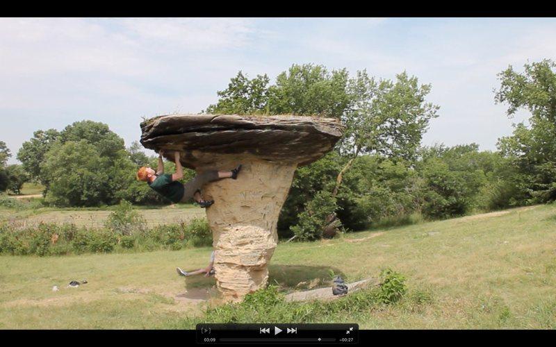 Rock Climbing Photo: mushroom rock state park, Kansas