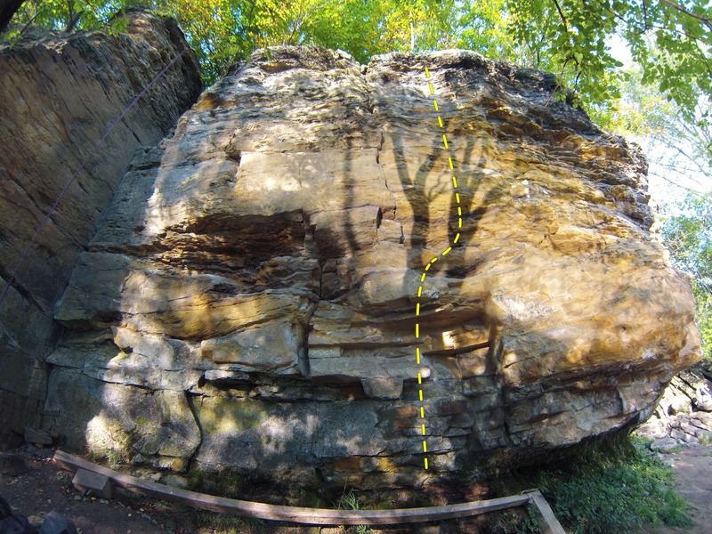 Rock Climbing Photo: Route for MLF