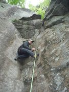 Rock Climbing Photo: Dave Quinn on the second ascent of Mentally Distur...