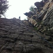 5.9 from the narrows climbing area in the Crystal River Valley outside of Carbondale, CO