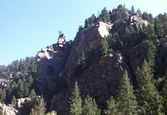 Rock Climbing Photo: Trojan Bunny Buttress from just up-canyon.