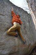 Rock Climbing Photo: me on Slush Puppy (v4)