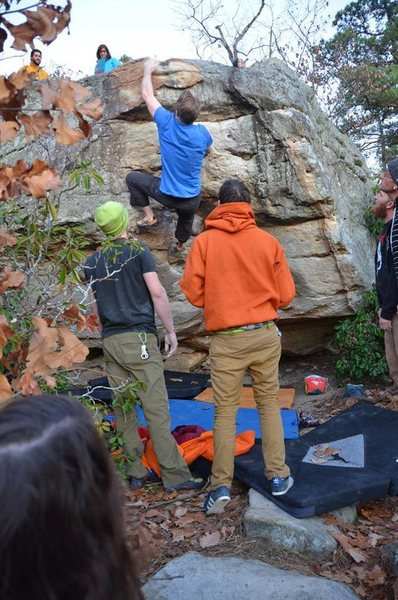 Rock Climbing Photo: Red Neck (v6)