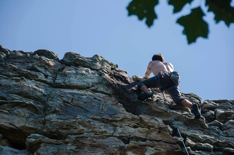 Rock Climbing Photo: me on Misty (5.10c)