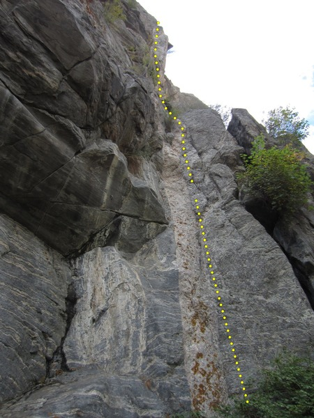 The whole route as seen from below.