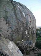 Rock Climbing Photo: Harder variation that starts to the right and cros...