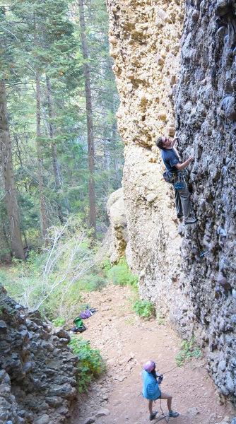 Rock Climbing Photo: Colin being belayed by Natasha.