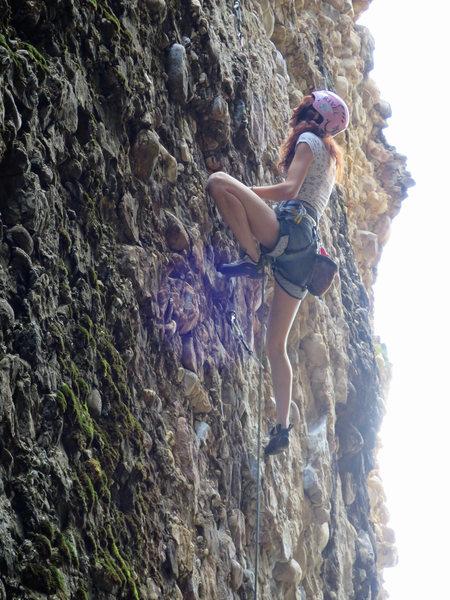 Rock Climbing Photo: Natasha at the crux.
