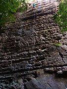 Rock Climbing Photo: Climbing Gold Rush. Follows the plumb line of the ...