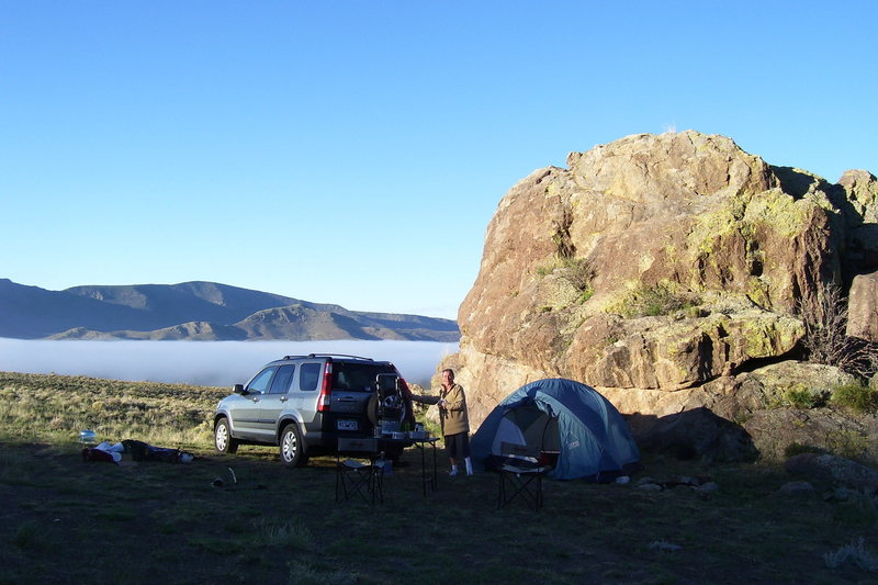 Rock Climbing Photo: Above the clouds in the San Luis Valley.