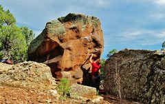 Rock Climbing Photo: Making the first move to one of the best edges at ...