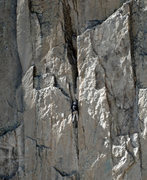 Rock Climbing Photo: Unknown climber near the top of 2nd pitch after co...