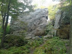 Rock Climbing Photo: Blue Run Rocks. The Main Attraction boulder on the...