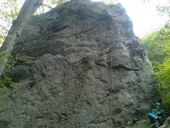 Rock Climbing Photo: Face the Facts. The rope running through the quick...
