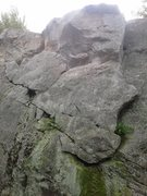 Rock Climbing Photo: Flake Access goes up the obvious large flake on th...