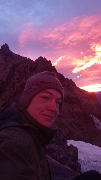 on the upper saddle of Mt Rainier, 7-4-2014