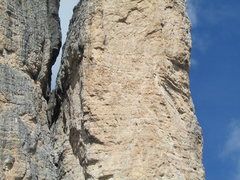 Rock Climbing Photo: A party of unknown climbers on the Cassin Route.